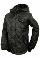 Куртка демисезонная детская (подростковая) с капюшоном черная, бренд «Respect» (Англия)|escape:'html'