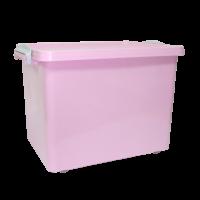 Контейнер на колесах Irak Plastik 33,5 л прозрачный Розовый|escape:'html'