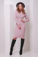 Женское платье вязаное в расцветках, р.42-46 пудра escape:'html'