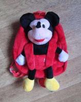Рюкзак детский микки маус и минни маус красный игрушка съёмная