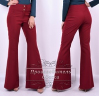 Женские брюки в стиле клеш