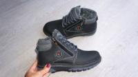 Детские зимние кожаные ботинки для мальчика, 35-39размер