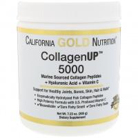 California Gold Nutrition, Collagen UP 5000, Marine Sourced Collagen Peptides + Hyaluronic Acid + Vitamin C escape:'html'