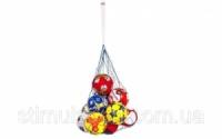 Сетка для мячей UR SO-5256 (полипропилен, d-2,5мм, 10 мячей, ячейка 12см, синий-белый, синий-желтый)|escape:'html'