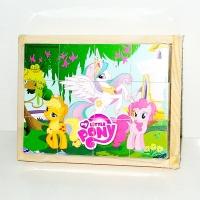 Кубики деревянные My little PONY 12 шт. escape:'html'
