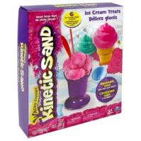 Набор песка для детского творчества - KINETIC SAND ICE CREAM (розовый, формочки, 283 г) от Wacky-Tivities - под заказ escape:'html'