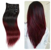 Новинка! аналог натуральных волос. Набор из 7 прядей на заколках длина 40см тон №2т118