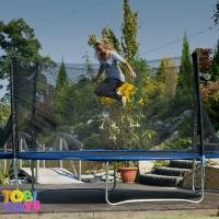 Детский батут 435 см с сеткой и лесенкой|escape:'html'