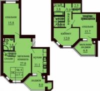 2 уровневая квартира на ЖК Софии без коммисионных|escape:'html'