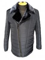 Модная мужская зимняя куртка на двойном утеплителе Черная