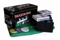 Покерный набор на 200 фишек с номиналом в металлической коробке «Техасский холдем» №200т Код:426317072|escape:'html'