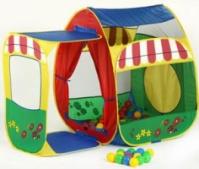 Палатка игровая «Домик с пристройкой» + 100 шаров