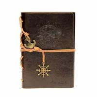 Стильный винтажный блокнот Aventura темно-коричневый