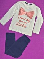 18-63 Пижама Pepco 4-5 лет рост 104-110 Кофта и штаны для девочки детская одежда комплект