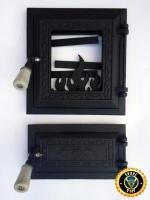 Дверцы для печи и барбекю со стеклом Калина Черная, печные дверцы со стеклом|escape:'html'