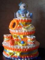 Торт из подгузников « Ми Тую - девочка»|escape:'html'