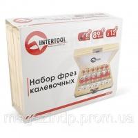 Набор фрез калевочных в деревянном кейсе INTERTOOL HT-0077 Код:279400195 escape:'html'