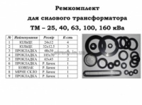 Ремкомплект на трансформатор тм 25/10/04 ква