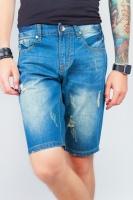 Мужские джинсовые шорты рваные с потертостями AG-0003829 Синий