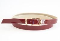 Красный лаковый тонкий ремешок кожзам для женщин (100646) escape:'html'