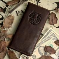 Портмоне мужское J.M.D. Leather с изображением волка|escape:'html'