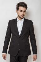 Пиджак мужской классический на двух пуговицах AG-0000160 Черный|escape:'html'