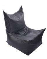 Черное бескаркасное кресло трон из кож зама Зевс|escape:'html'