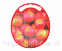 Доска разделочная Яблоки овал Код:92-8715572
