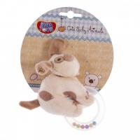 Погремушка мягкая с кольцом Biba Toys Собачка (618QB dog)