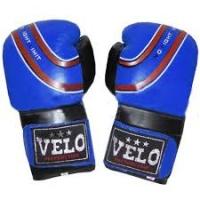 Перчатки боксерские Кожа VELO ULI-3041-синие|escape:'html'