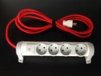 Удлинитель электрический с проводом в текстильной оплетке|escape:'html'