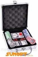 Покерный набор на 100 фишек с номиналом в металлическом кейсе №100N Код:426316617|escape:'html'