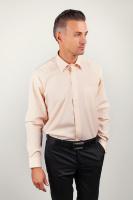 Рубашка мужская светлая с длинным рукавом AG-0002182 Слоновая кость|escape:'html'