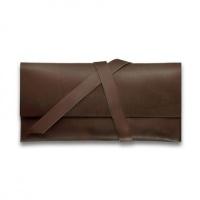 Клатч из натуральной кожи темно-коричневый|escape:'html'