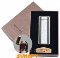 Электроимпульсная зажигалка в подарочной упаковке LIGHTER (USB) №XT-4889-2 Код:627505934|escape:'html'