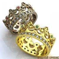 Обручальное кольцо-корона 2|escape:'html'