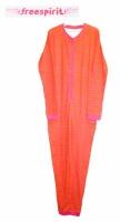 Пижамы сдельные слипы, человечки для девочек, красные в полоску, бренд «Freespirit» (Англия)|escape:'html'