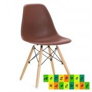 Пластиковый стул для фастфуда Тауэр Вуд, цвет коричневый