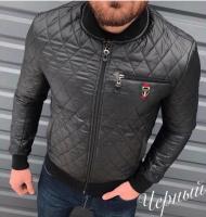 Куртка мужская короткая Men ST стеганка деми / бомбер на синтепоне / манжет и резинка р-ры 48 50 52