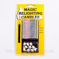 Магические негаснущие, незадуваемые свечи для торта 10 шт|escape:'html'