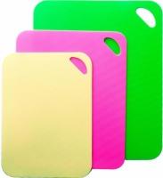 Набор 3 гибкие разделочные доски Fissman: зеленая, желтая, розовая|escape:'html'