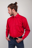 Рубашка классическая мужская, красная AG-0002274 Красный