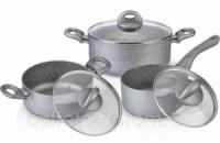 Набор кухонной посуды Fissman MOON STONE 2 кастрюли и ковшик с крышками|escape:'html'