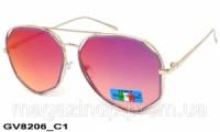Солнцезащитные очки оригинальной формы женские GV8206 C2 Код:543622265