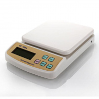 Электронные кухонные весы 5 кг SF-400A с подсветкой (45158)