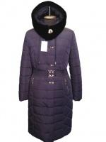 Женское зимнее пальто больших размеров Сливово-серый