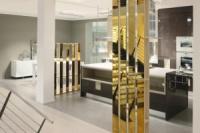 Зеркало золотое 585 пробы. Зеркало покрытое золотым напылением. Mirror 585 gold. Mirror covered with gold plating.|escape:'html'