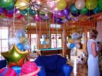 Украшение зала,кафе, комнаты для праздника гелевыми шариками escape:'html'