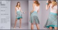 Яркая женская юбка с асимметричным низом|escape:'html'