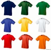 Футболки трикотажныe, разные цвета, футболки 100% х/б